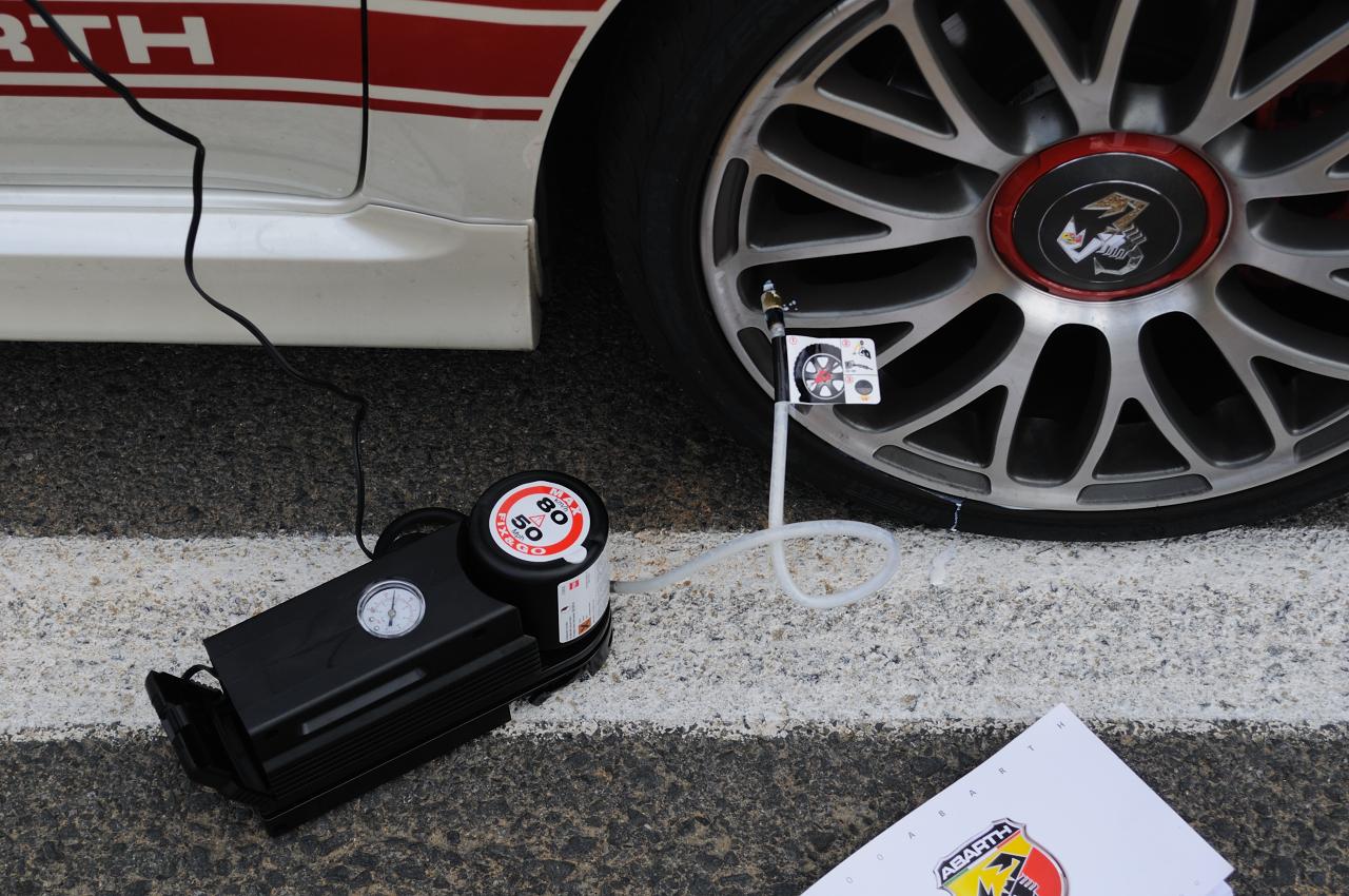 kit - antipinchazos - pinchazo - cambiar - rueda - repuesto