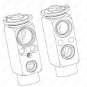 Válvula de expansión, aire acondicionado
